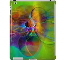 Hear the wind smile- Colorful Digital Abstract Art  iPad Case/Skin