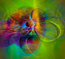 Hear the wind smile- Colorful Digital Abstract Art  by gp-art
