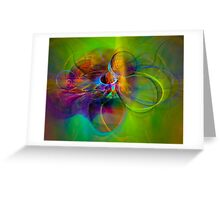 Hear the wind smile- Colorful Digital Abstract Art  Greeting Card