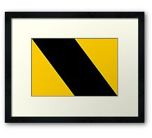 Go Right Framed Print