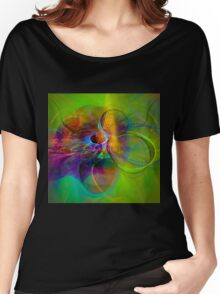 Hear the wind smile- Colorful Digital Abstract Art  Women's Relaxed Fit T-Shirt