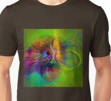 Hear the wind smile- Colorful Digital Abstract Art  Unisex T-Shirt