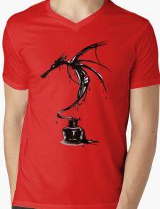 Dragon Ink Mens V-Neck T-Shirt