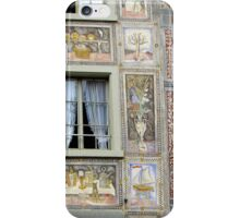Detail from a picture book façade iPhone Case/Skin