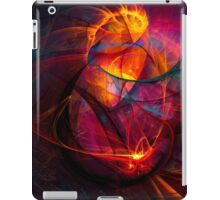 Heartbeat Warmth- Colorful Digital Abstract Art  iPad Case/Skin
