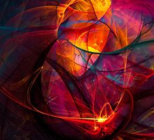 Heartbeat Warmth- Colorful Digital Abstract Art  by gp-art