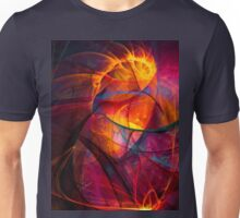 Heartbeat Warmth- Colorful Digital Abstract Art  Unisex T-Shirt