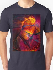 Heartbeat Warmth- Colorful Digital Abstract Art  T-Shirt