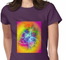 Hug- Colorful Digital Abstract Art  Womens Fitted T-Shirt