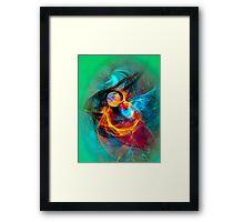 Hummingbird - Colorful Digital Fractal Abstract Art  Framed Print