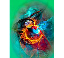 Hummingbird- Colorful Digital Abstract Art  Photographic Print