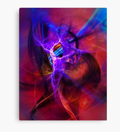 Icarus- Colorful Digital Abstract Art Canvas Print