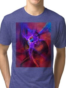 Icarus- Colorful Digital Abstract Art Tri-blend T-Shirt