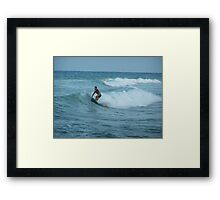 Surfing Espana Framed Print