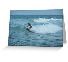 Surfing Espana Greeting Card