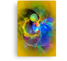 Ice Skater- Colorful Digital Abstract Art Canvas Print