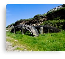 A derelict Currach in Co. Kerry, Ireland Canvas Print