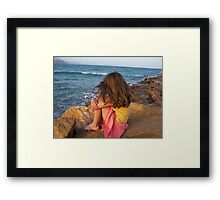 Contemplating.................. Framed Print