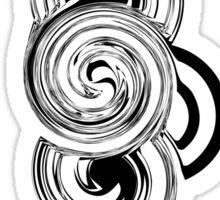 Black and white Retro shape Sticker