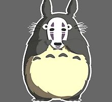 Totoro x No Face - My Neighbor Totoro x Spirited Away by zetsuennoadams