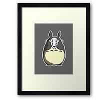 Totoro x No Face - My Neighbor Totoro x Spirited Away Framed Print