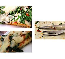 Pizza Triology Photographic Print