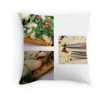 Pizza Triology Throw Pillow