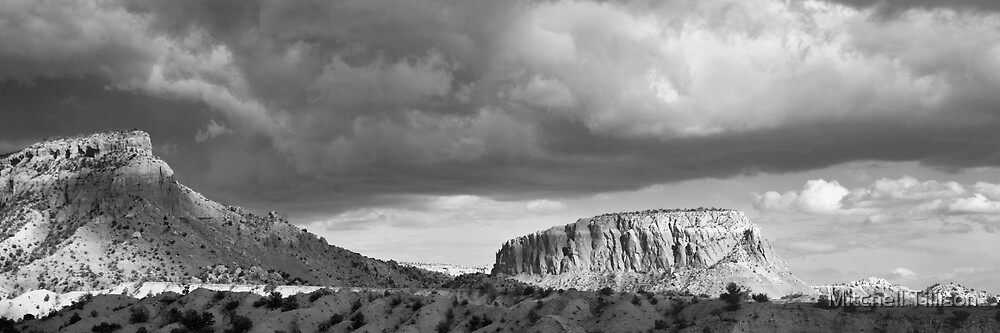 New Mexico Light Show III:  Ghost Ranch at Abiquiu by Mitchell Tillison