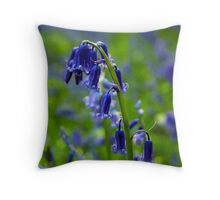 Bluebell Tranquility Throw Pillow