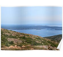 'Winter Harbor From Cadillac Mountain' Poster