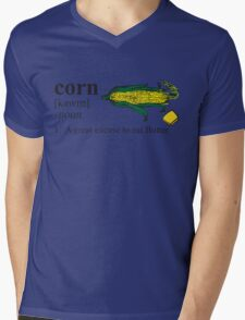 Corn - A great excuse to eat Butter Mens V-Neck T-Shirt