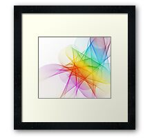 Abstract Colorful Lines Background  Framed Print