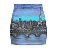 Blue Paris Mini Skirt