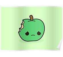 Cute sad apple Poster
