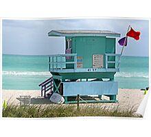 Miami Beach Lifeguard Station Poster