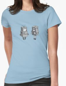 we can be robots b/w Womens Fitted T-Shirt
