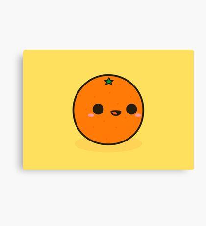 Cute orange Canvas Print