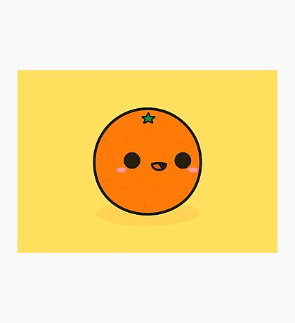 Cute orange Photographic Print