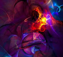 In another life- colorful digital abstract art  by gp-art