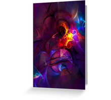 In another life- colorful digital abstract art  Greeting Card