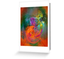Indian Summer- colorful digital abstract art by Gordan P. Junior Greeting Card