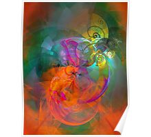 Indian Summer- colorful digital abstract art by Gordan P. Junior Poster