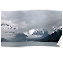 Burns Glacier & Portage Lake ~ Alaska Poster