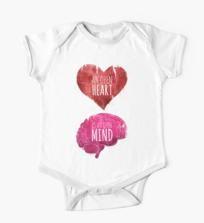 Open Heart, Open Mind One Piece - Short Sleeve