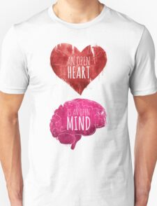 Open Heart, Open Mind Unisex T-Shirt