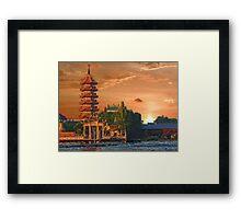 Chao Phraya River, Bangkok, Thailand Framed Print