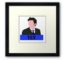 Tenth Doctor Framed Print