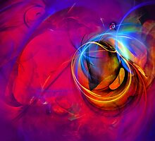 Jerry the Horse- colorful digital abstract art  by gp-art