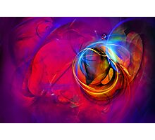 Jerry the Horse- colorful digital abstract art  Photographic Print