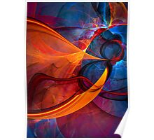 Infinity- colorful digital abstract  Poster